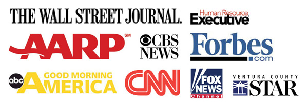 collage of press companies like CNN, Wall Street Journal, Forbes, CBS News, Fox News